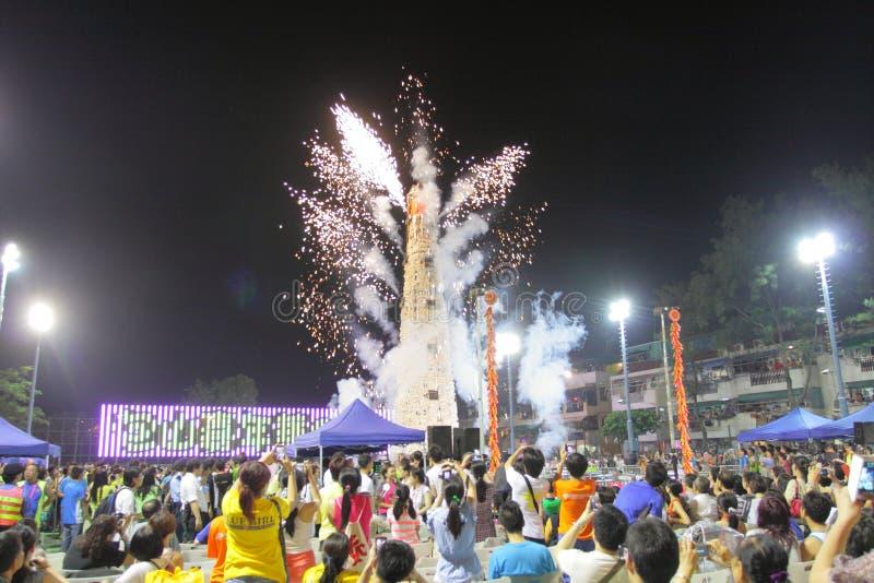Cheung Chau Bun Festival 2013 stock afbeeldingen