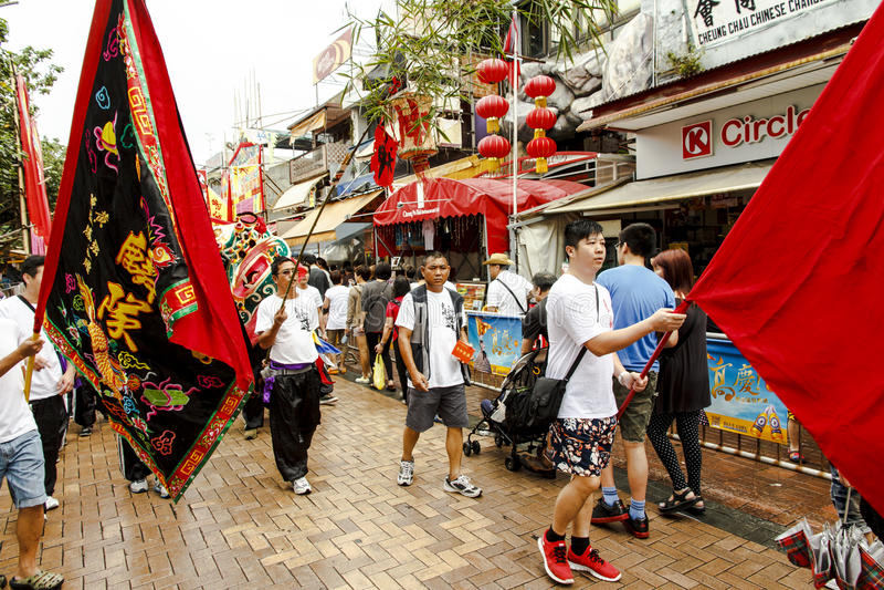 Cheung Chau Da Jiu Festival Parade royalty free stock images