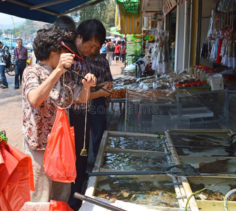 Cheung Chau fish market stock image