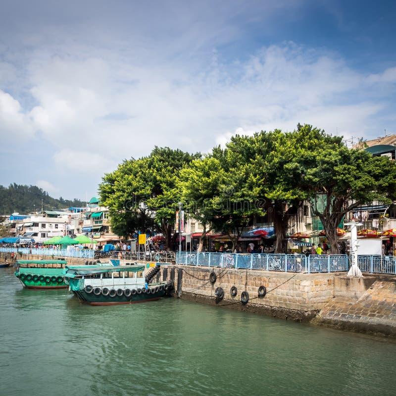 Cheung Chau Harbour fotografering för bildbyråer