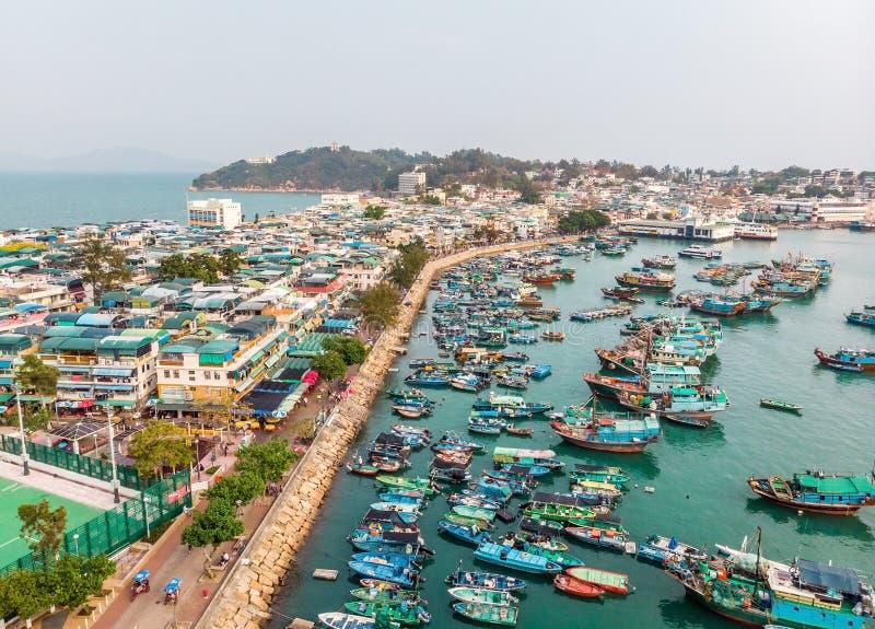 Cheung Chau Island Aerial Shot photo libre de droits