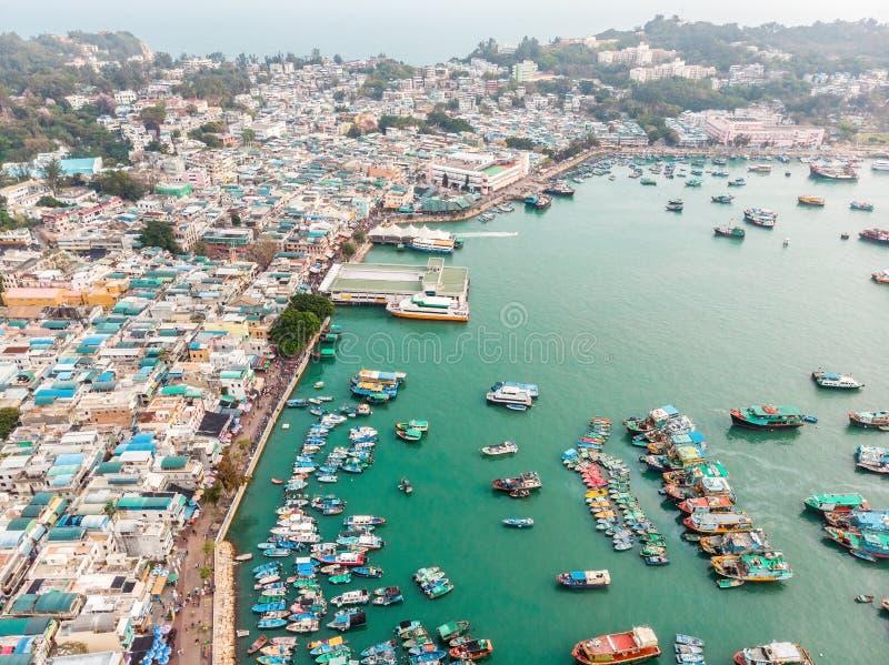 Cheung Chau Island Aerial Shot photographie stock libre de droits