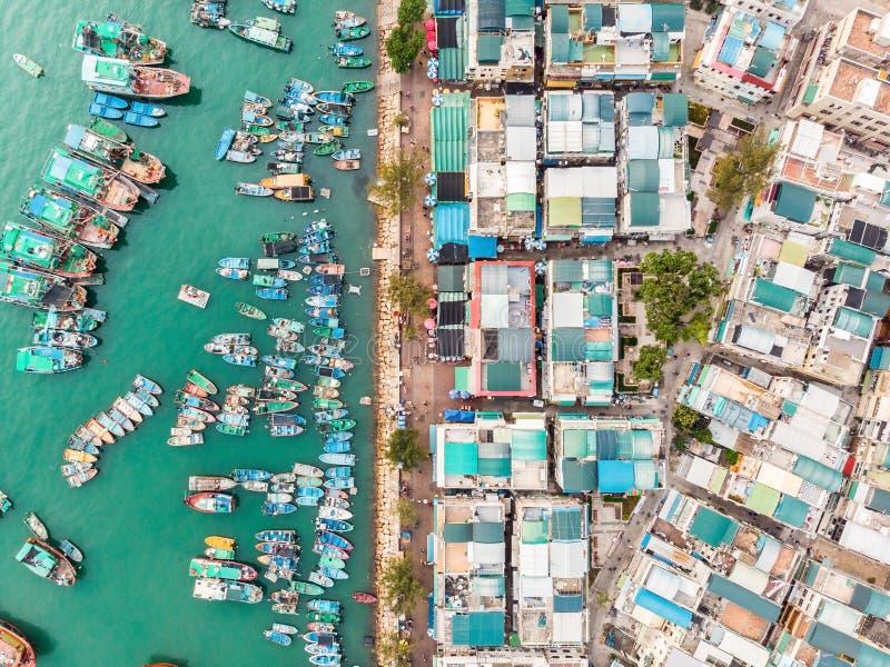 Cheung Chau Island Aerial Shot image stock
