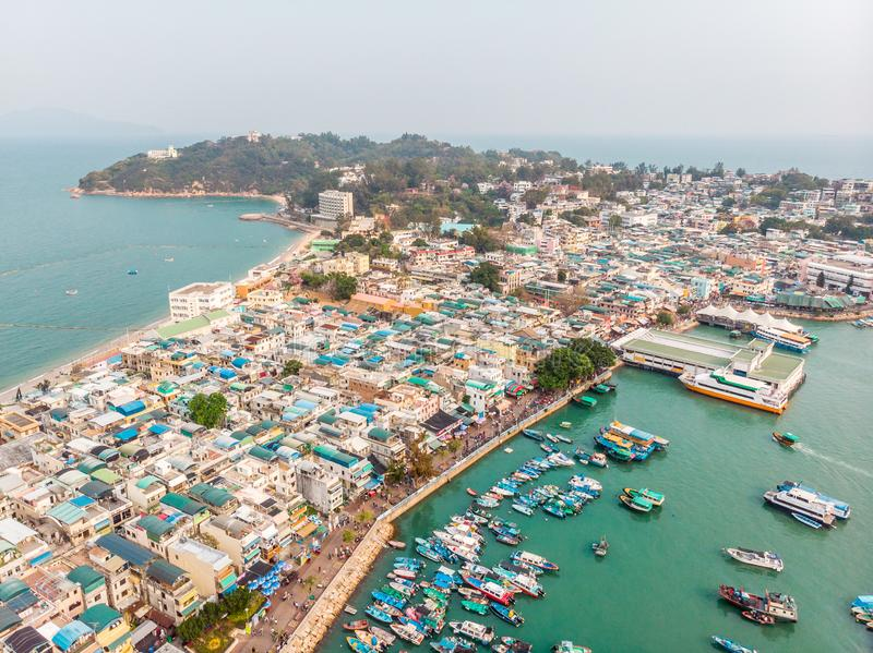 Cheung Chau Island Aerial Shot image libre de droits
