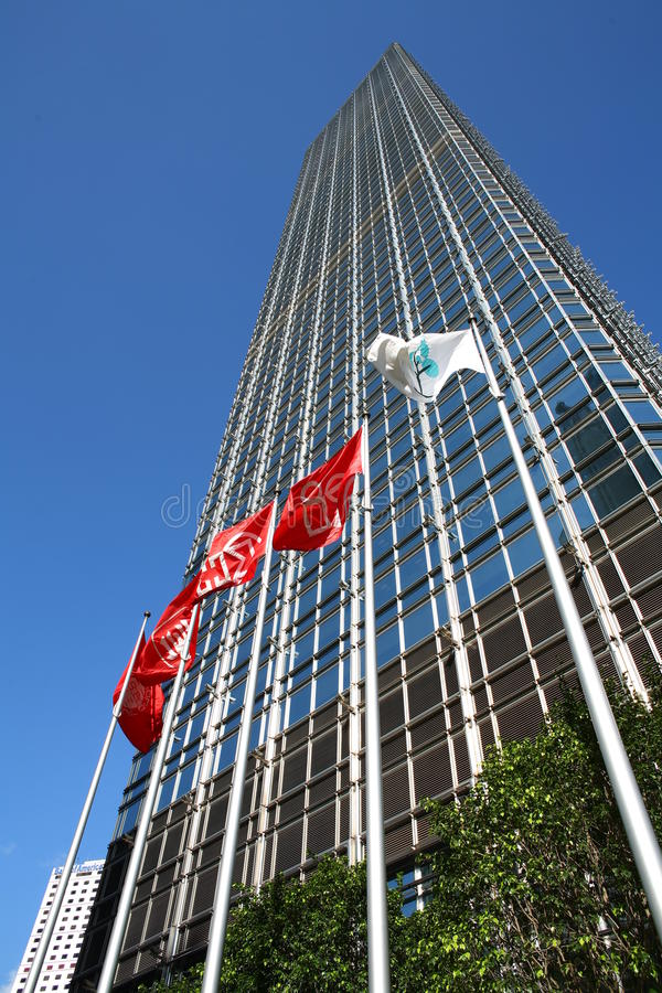 Cheung Kong Center på Hong Kong royaltyfri bild