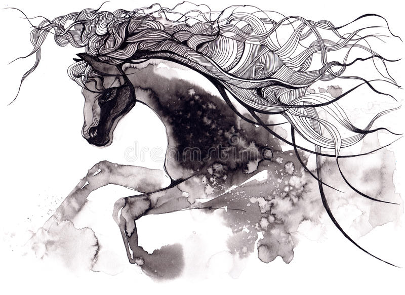 Cheval illustration stock