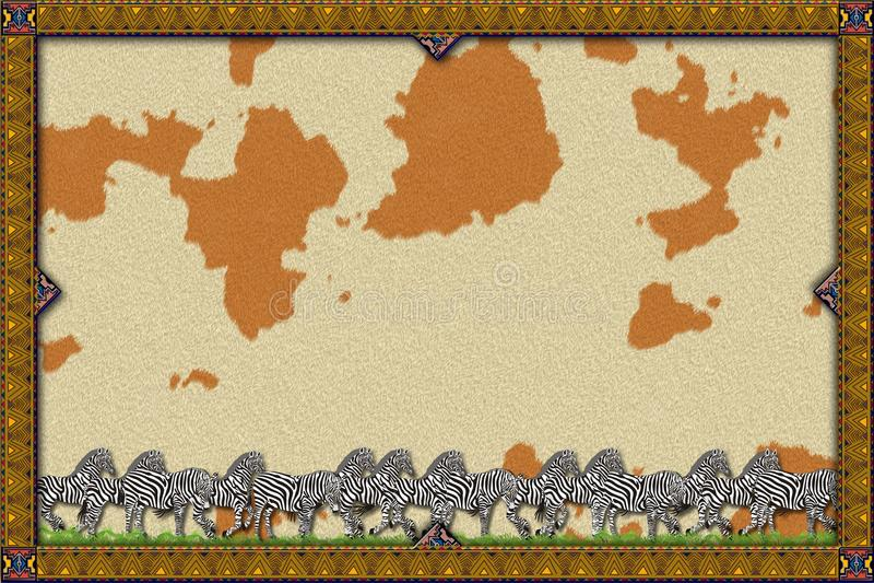 Cheval africain de cadre illustration libre de droits
