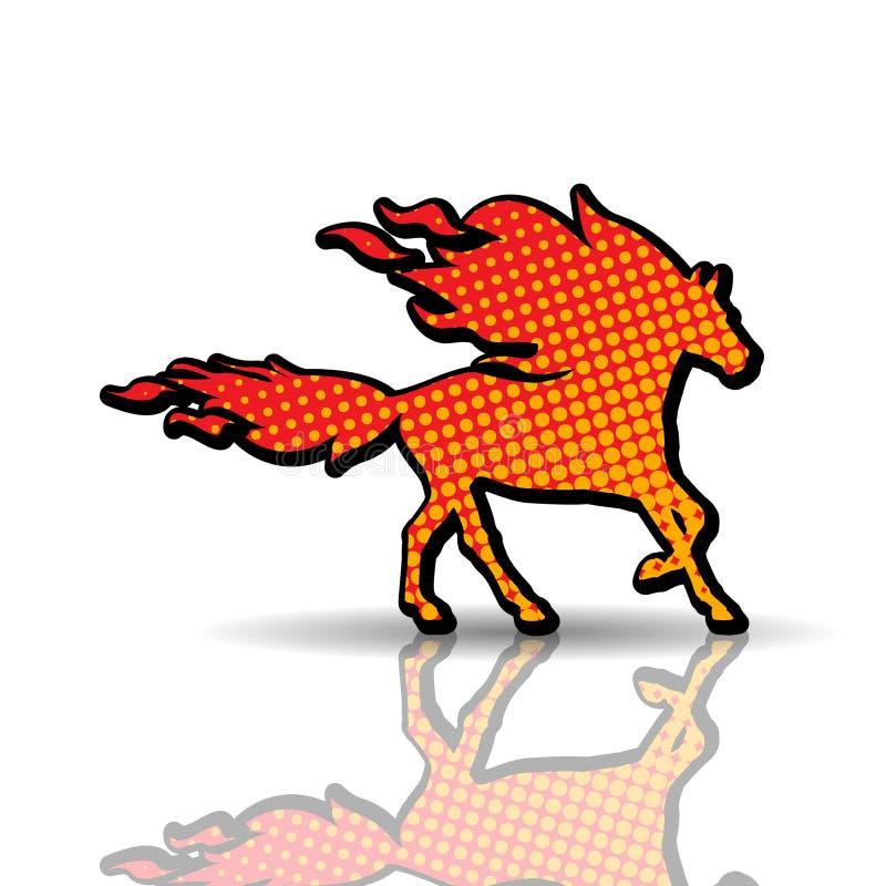 Cheval-animal du feu illustration de vecteur
