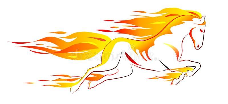 Cheval ardent illustration de vecteur