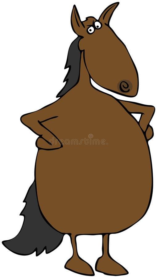 Cheval bouleversé illustration stock
