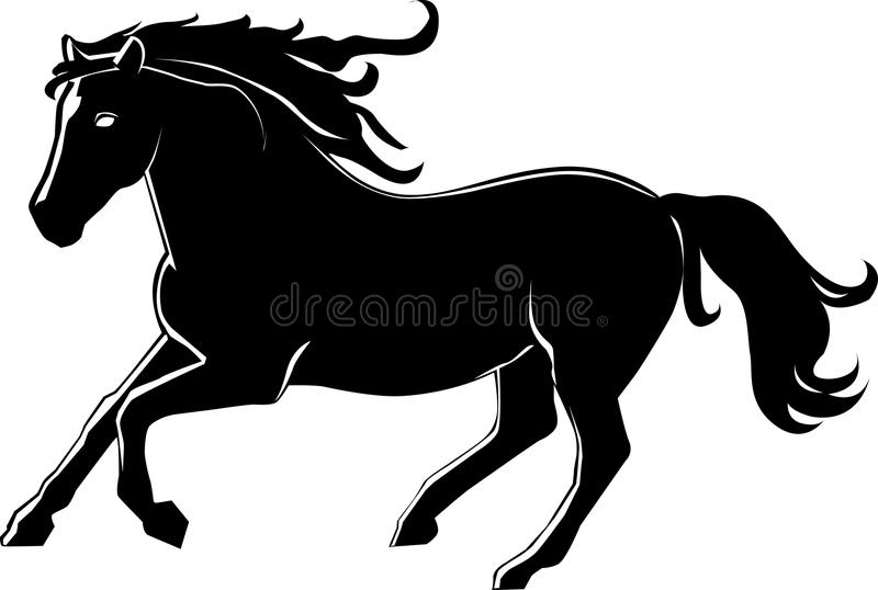 Cheval courant illustration stock