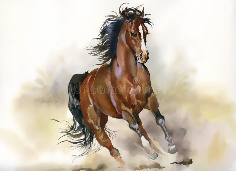 Cheval courant illustration de vecteur