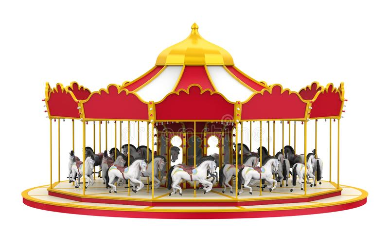 Cheval de carrousel d'isolement illustration de vecteur