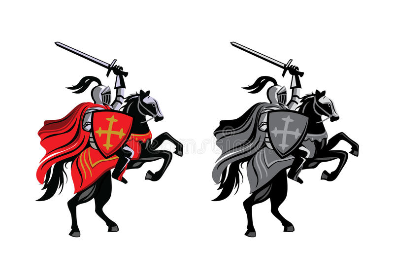 Cheval de chevalier illustration stock