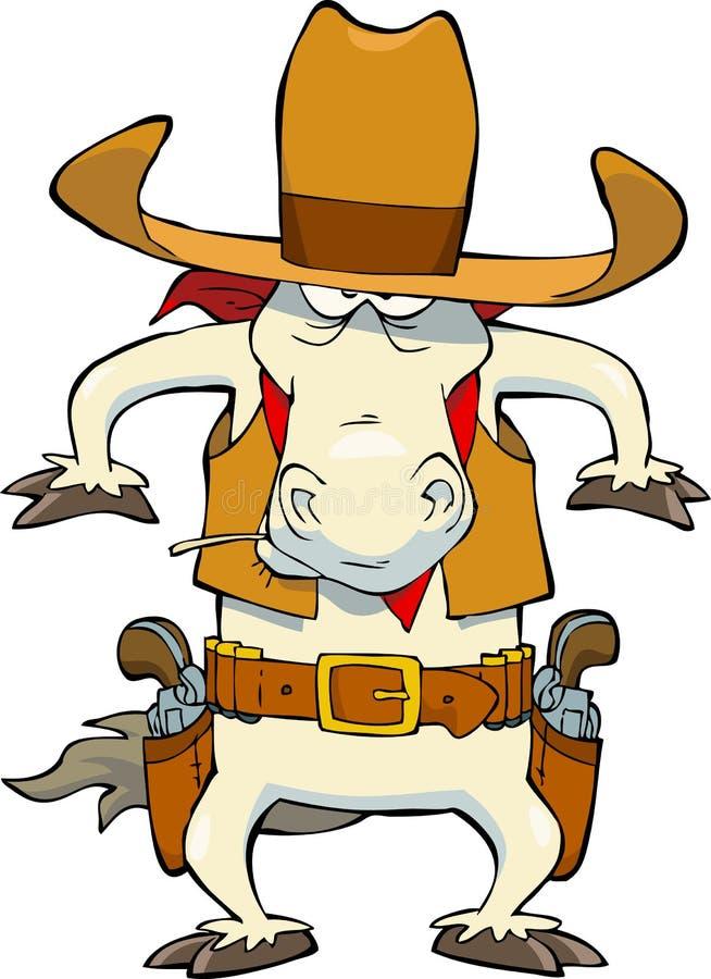 Cheval de cowboy illustration libre de droits