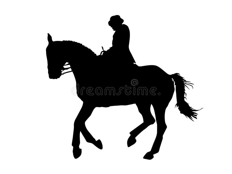 Cheval de Dressage illustration stock