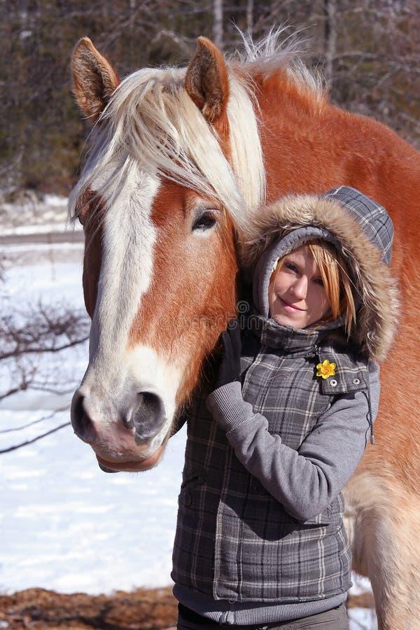 cheval de fille images libres de droits