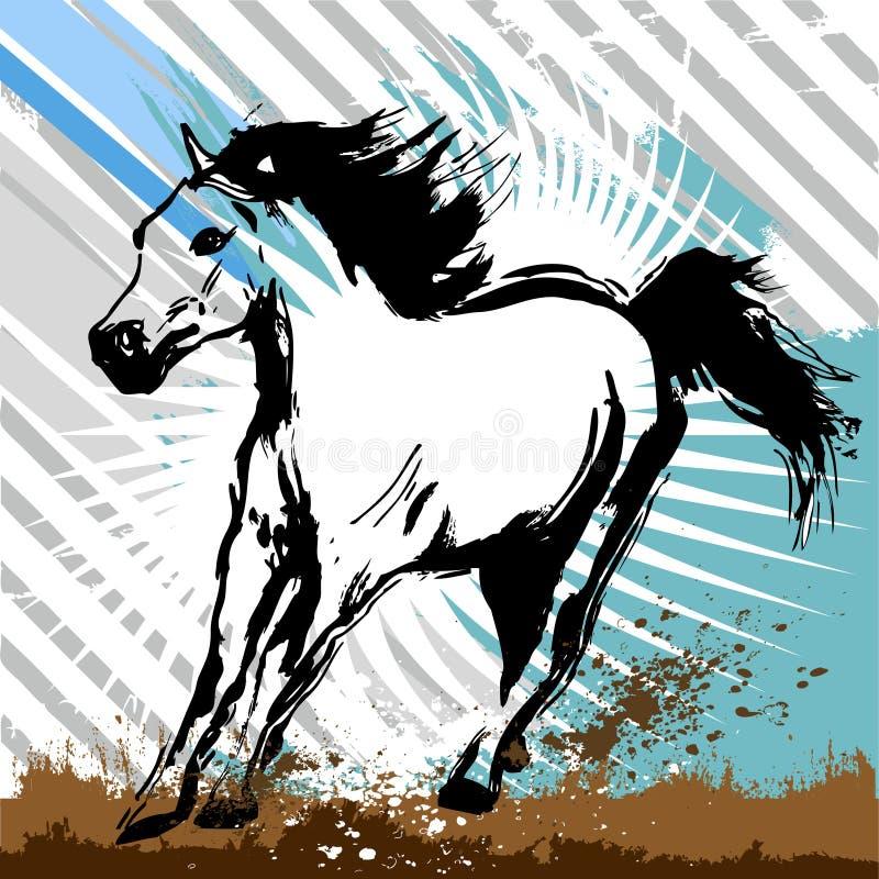 cheval de grunge de conception illustration stock