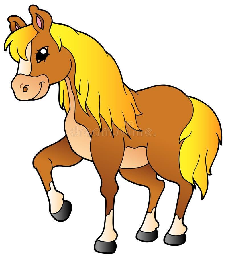 Cheval de marche de dessin anim illustration de vecteur illustration du domestiqu mignon - Dessin anime indien cheval ...