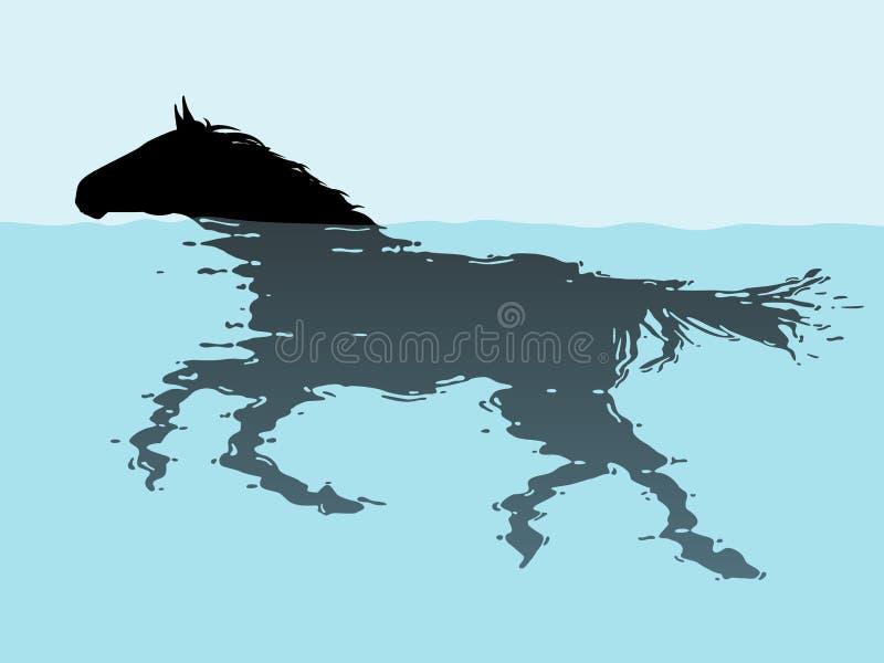 Cheval de natation illustration libre de droits