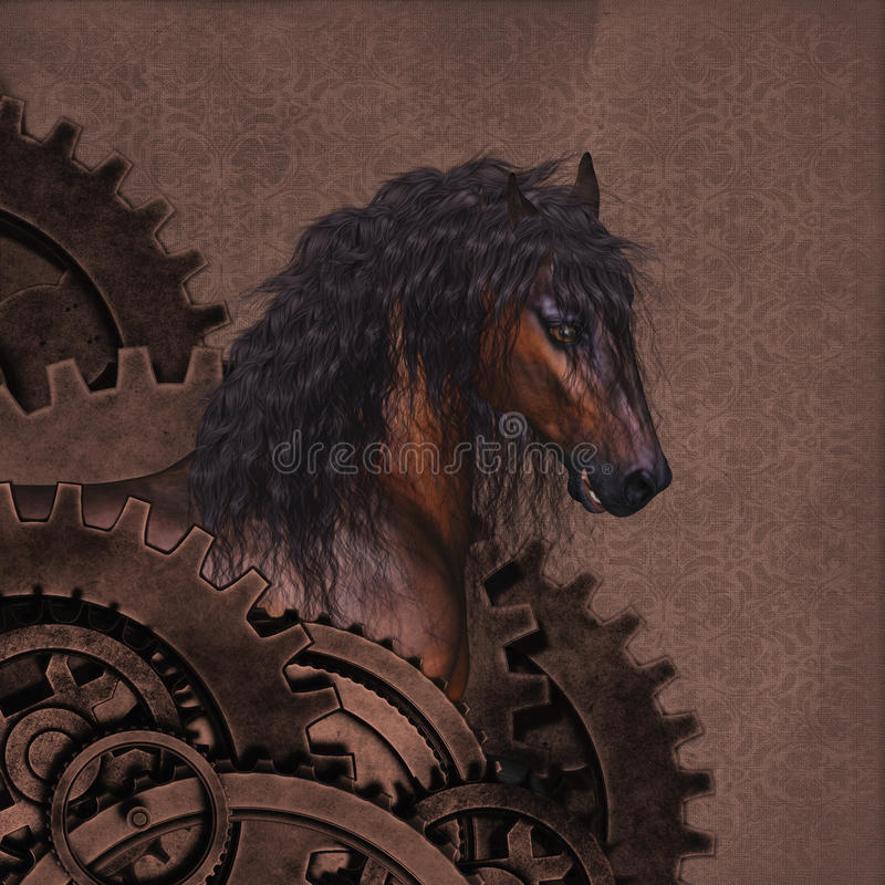 Cheval de Steampunk photo stock