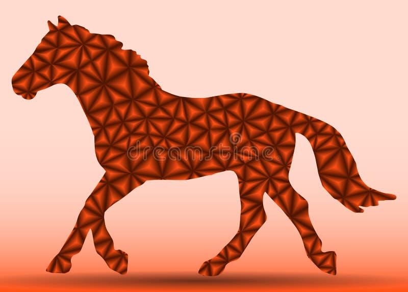 Cheval des triangles sur la course illustration de vecteur
