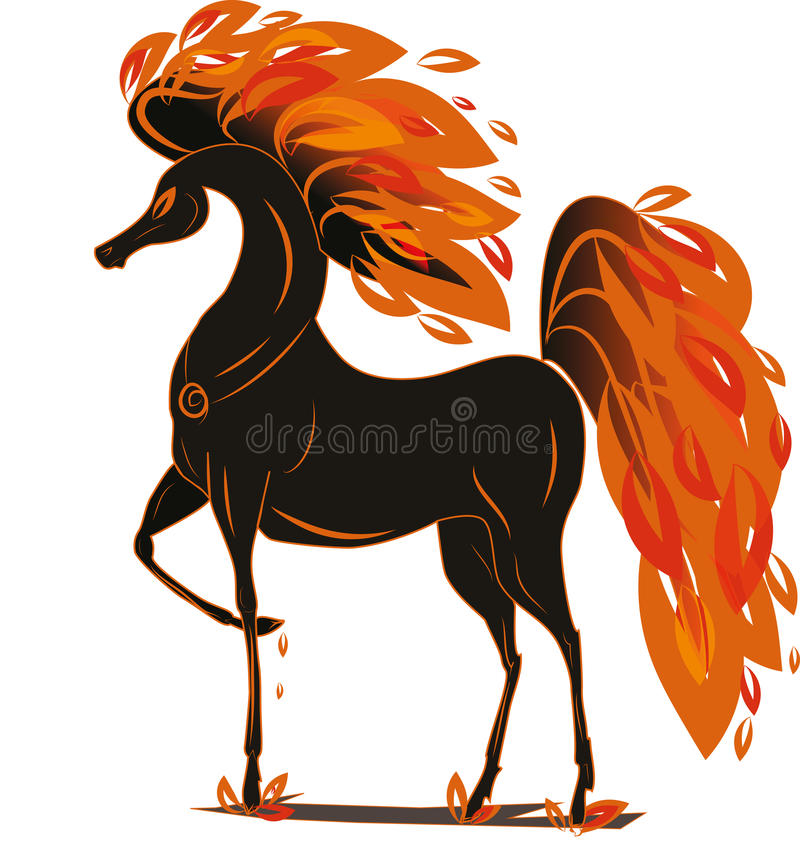 Cheval du feu illustration stock