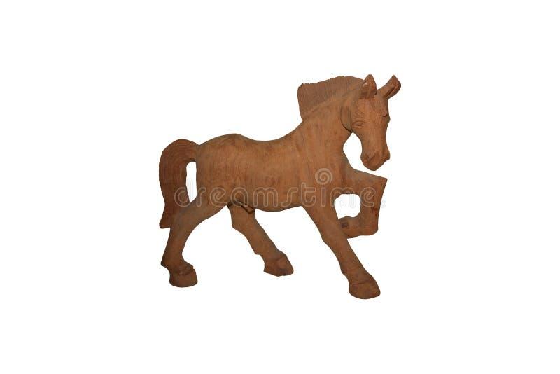 Cheval en bois de Brown images stock