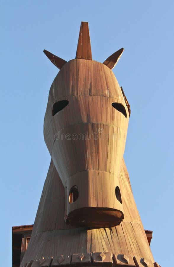 Cheval en bois de Troia_2 image stock