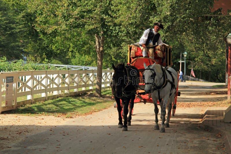 Cheval et chariot images libres de droits