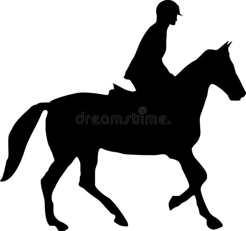 Cheval et jockey illustration libre de droits