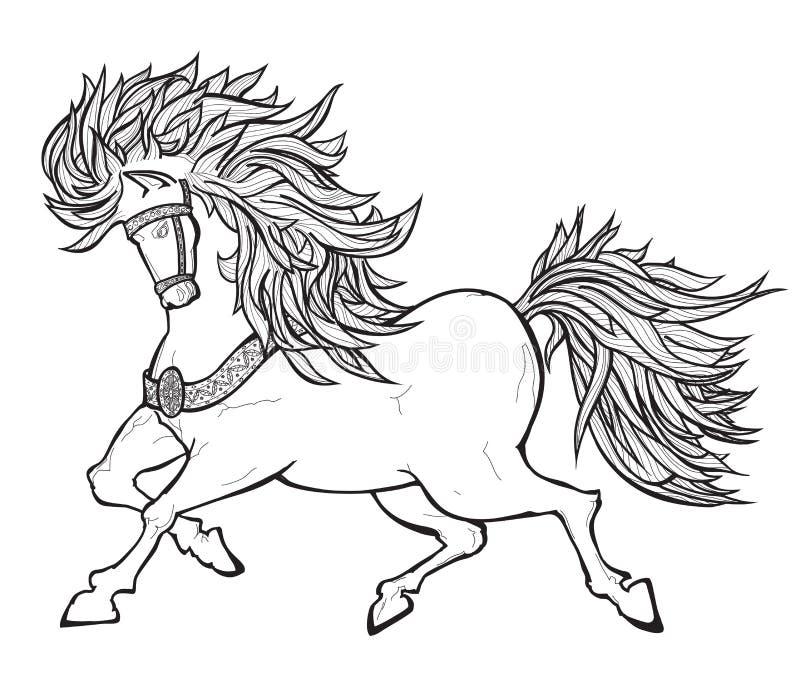 Cheval féerique illustration libre de droits