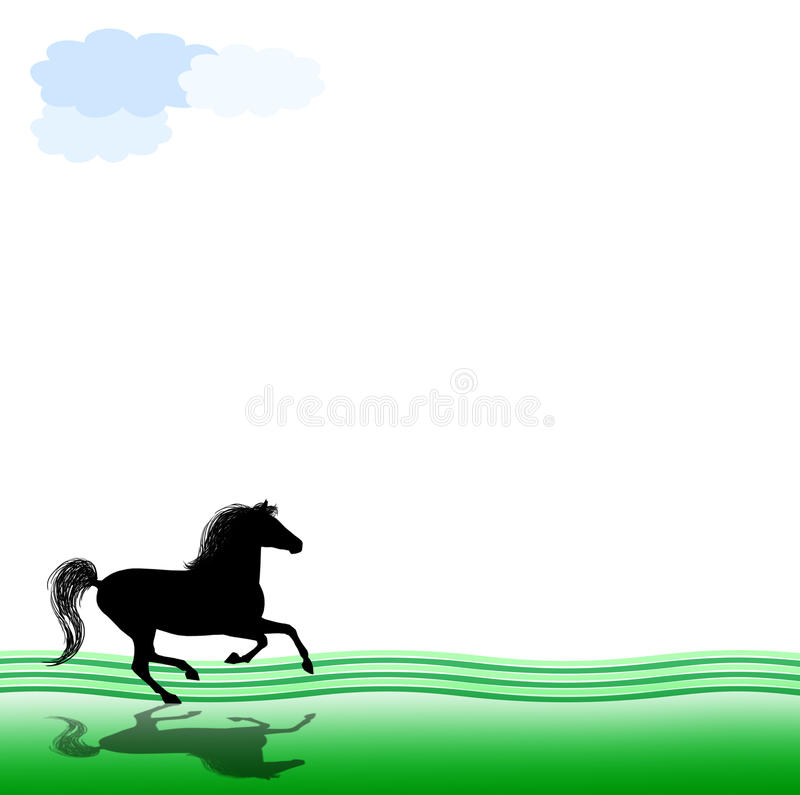 Cheval galopant illustration libre de droits