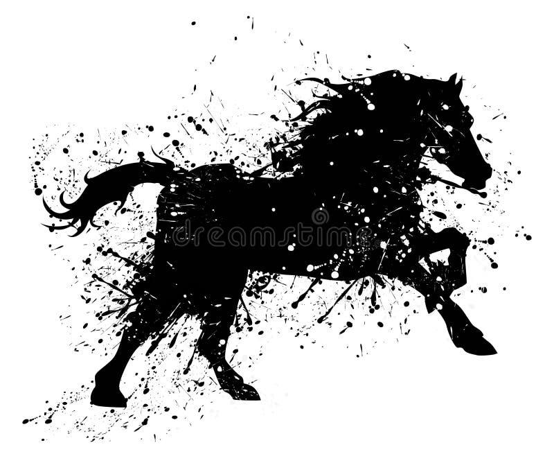 Cheval grunge illustration de vecteur