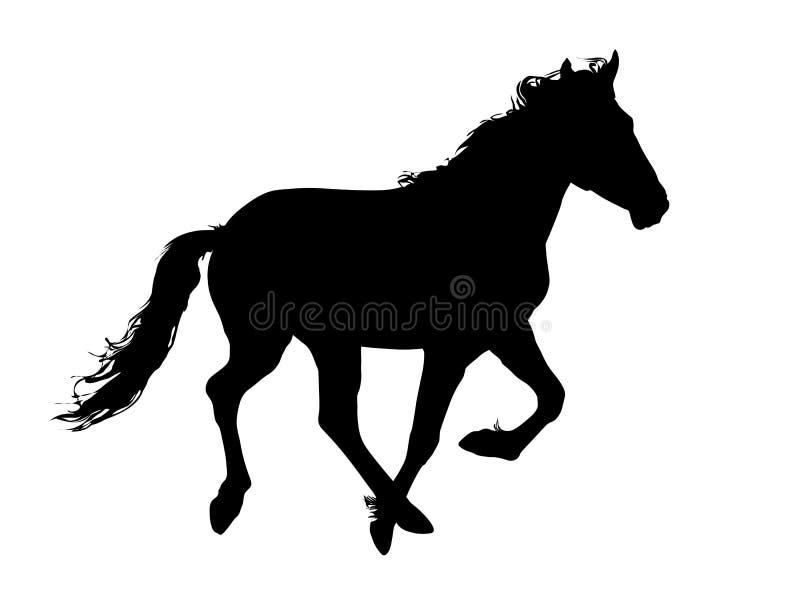 Cheval noir illustration stock