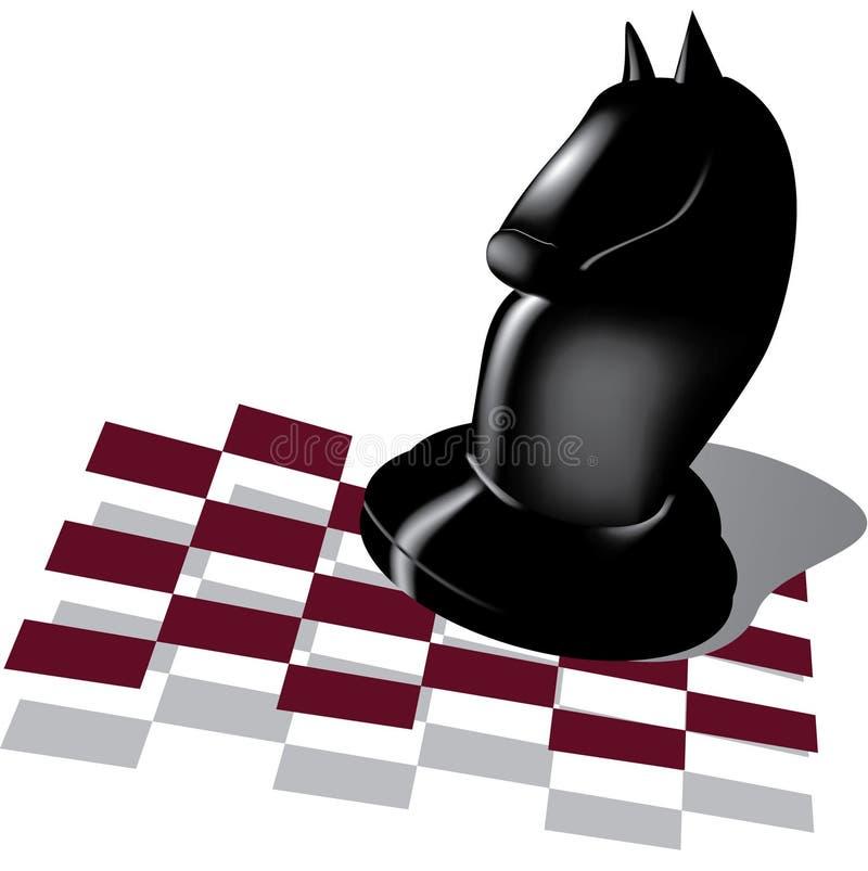 Cheval noir illustration de vecteur