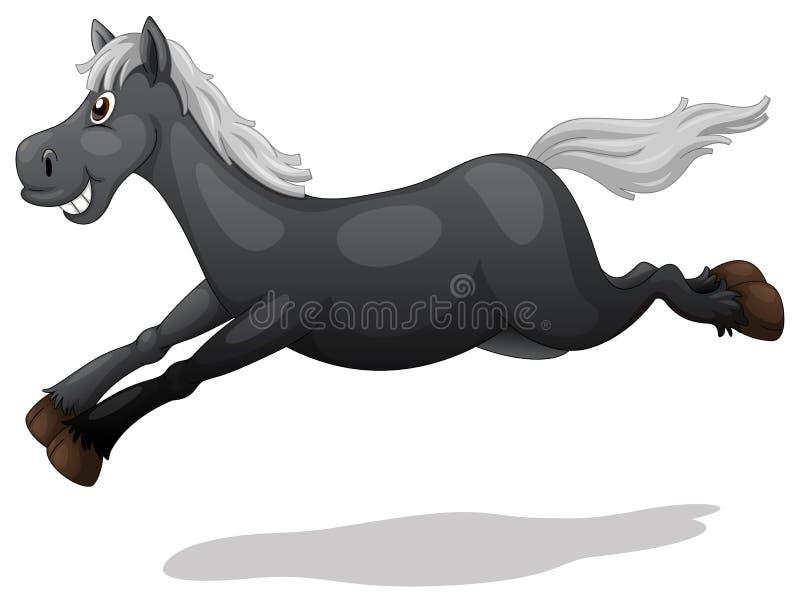 Cheval noir illustration libre de droits