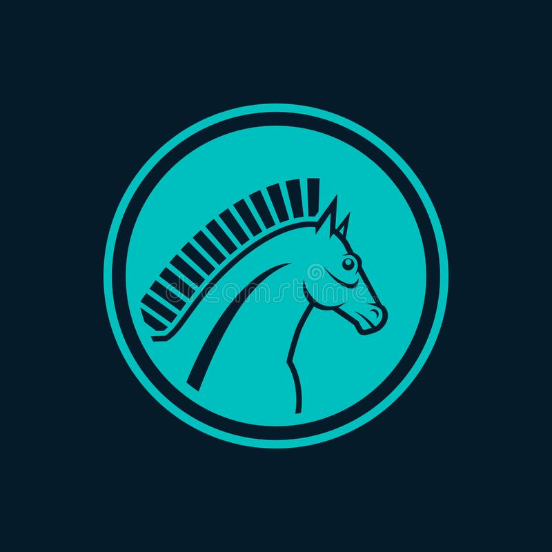 Cheval-symbole bleu illustration libre de droits