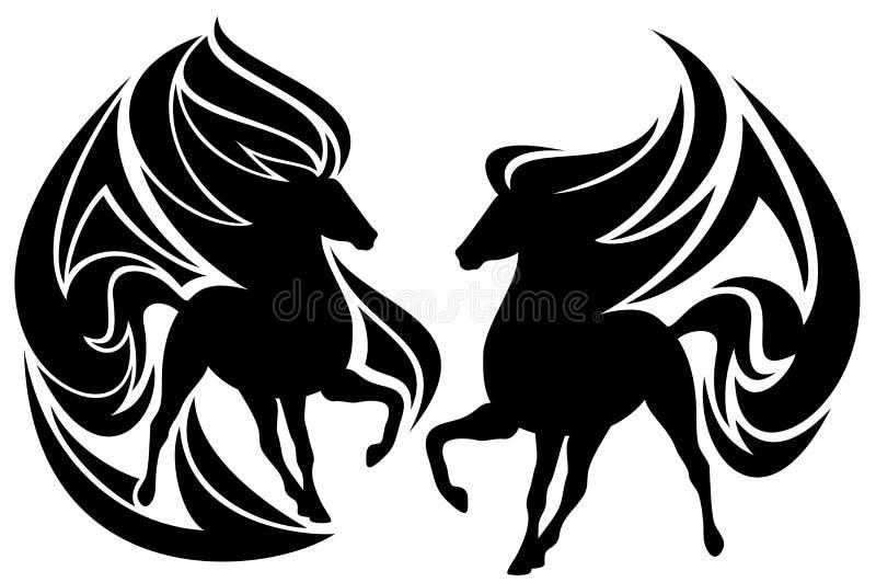 Cheval tribal illustration libre de droits