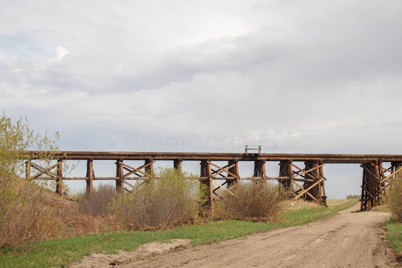 Chevalet de pont en bois photo libre de droits