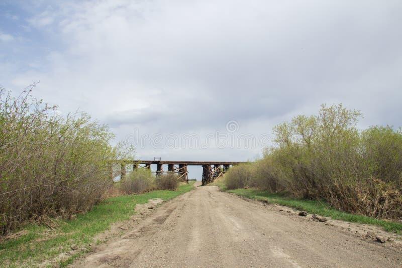 Chevalet de pont en bois photos stock