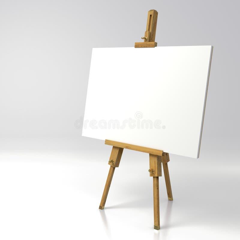 Chevalet en bois de peintre photo stock