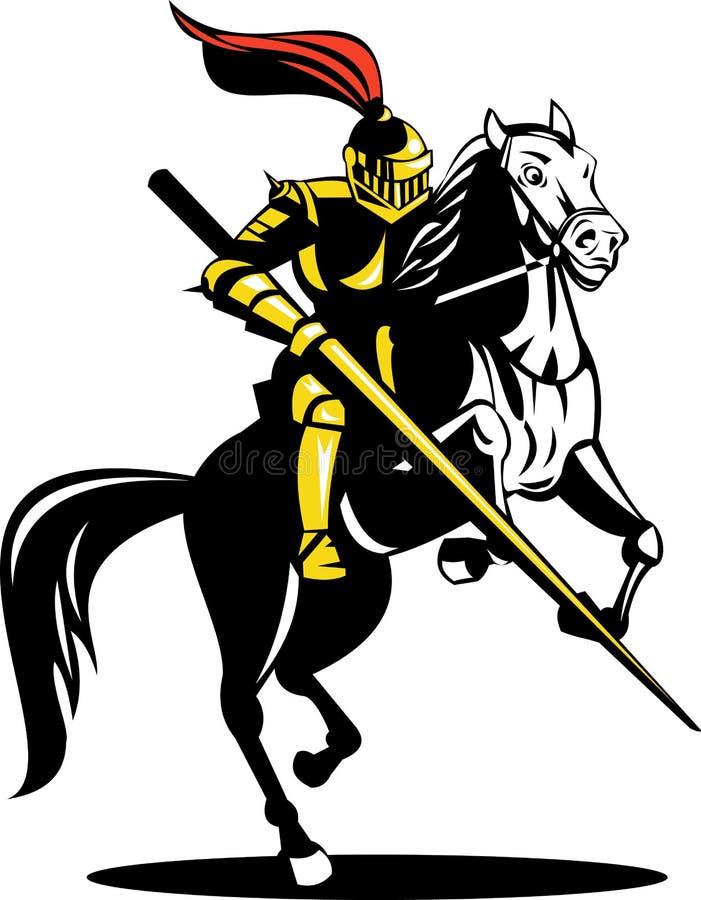 Chevalier à cheval illustration stock