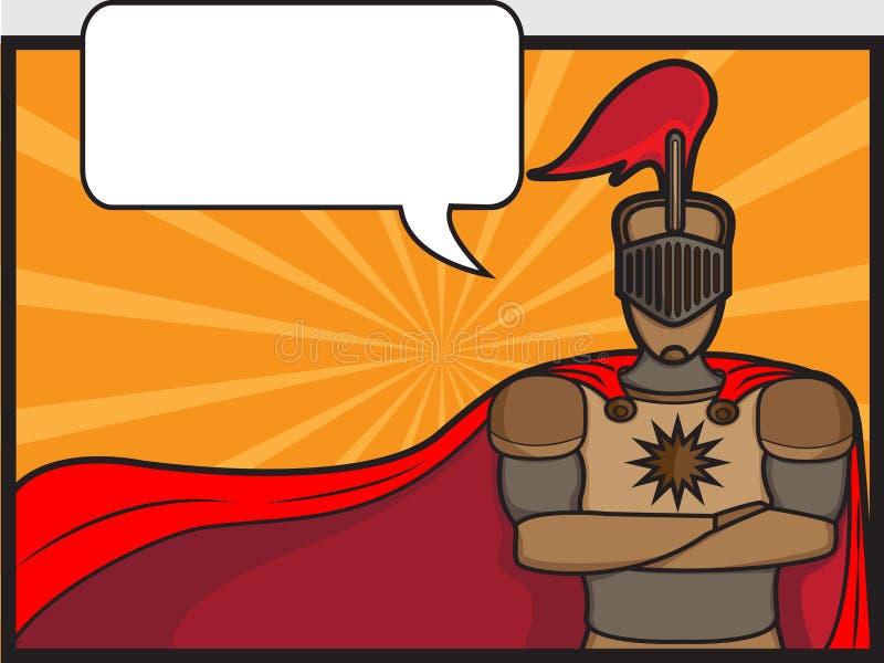 Chevalier bavard illustration de vecteur