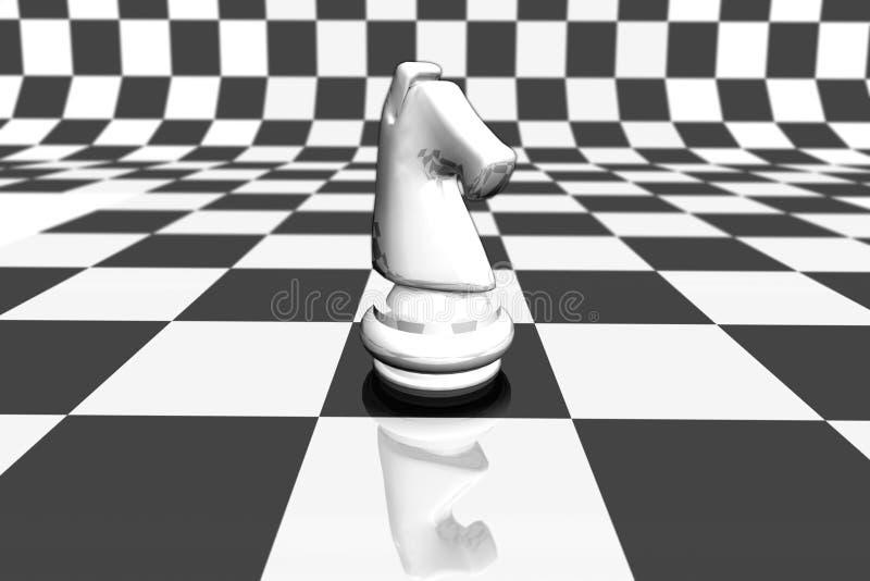 Chevalier blanc illustration de vecteur