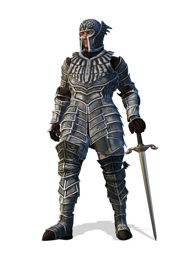 Chevalier céleste avec l'épée illustration libre de droits