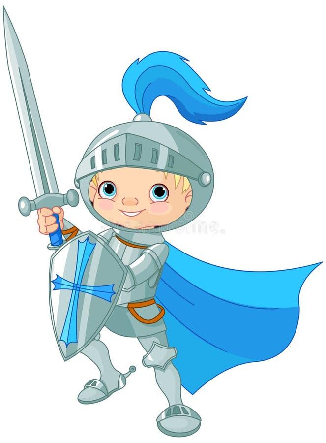 Chevalier courageux de combat illustration libre de droits