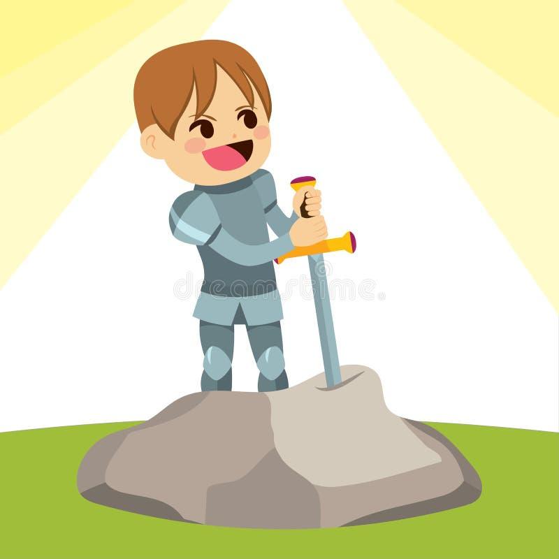 Chevalier d'Excalibur illustration libre de droits