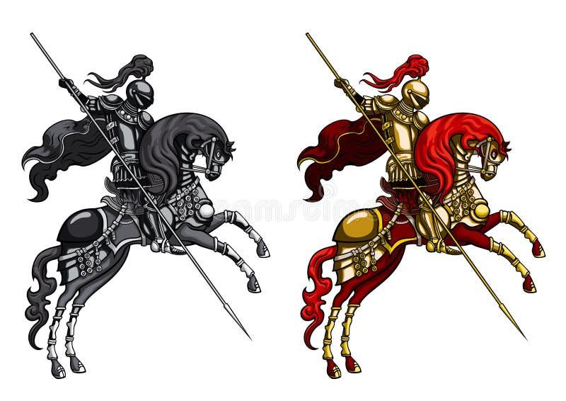 Chevalier de ?hampion sur un horseback illustration stock