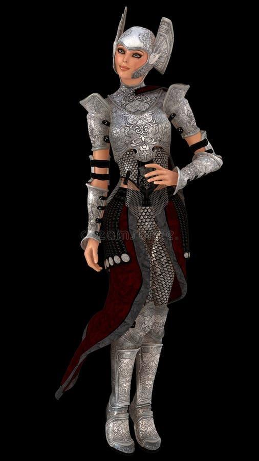 Chevalier de femelle d'Elven illustration libre de droits